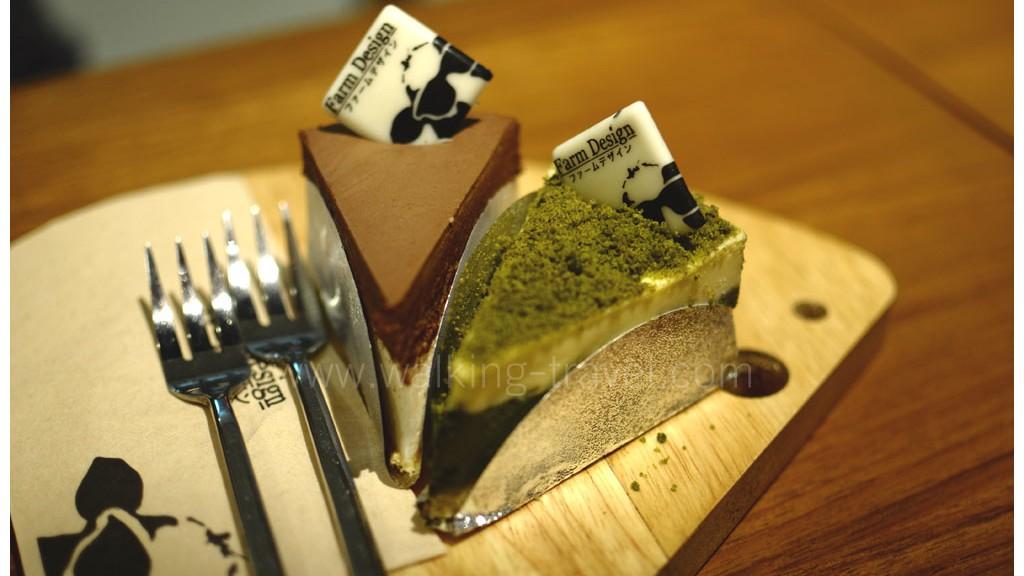 ชีสเค้กญี่ปุ่นแท้ๆ สองชิ้น