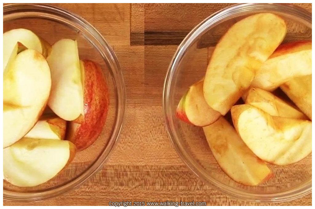 แอปเปิ้ลที่เกิดการออกซิเดชั่นแล้ว